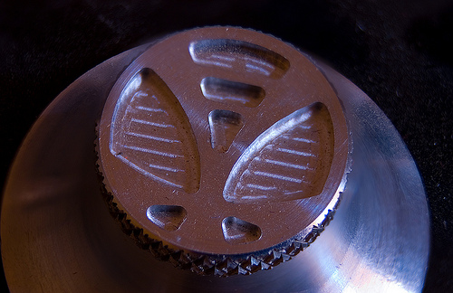 CNC Milled Sustenuto Monochord Knob Logo – Brian Eno Speaker Flowers Sound Installation at Marlborough House