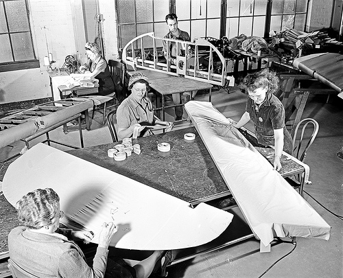 [Airplane Cloth Area, Pepperell Manufacturing Business]