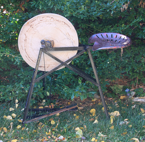 Antique Grinding Wheel for Sharpening Tools, Knives, …