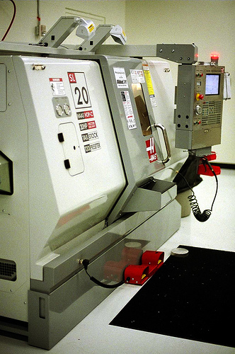 BarberMuseum Backstage CNC machine