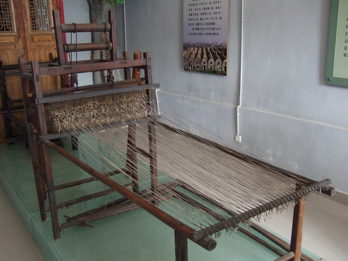 A traditional netting machine