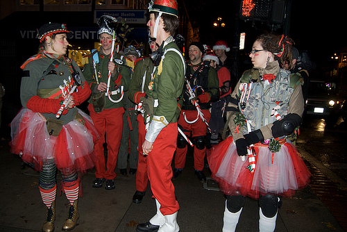 Santa's 12th Nutcracker Regiment marching to Molotov's from the Castro