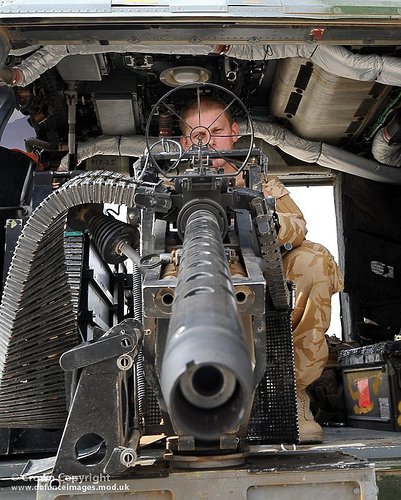 Army Lynx Mk9A Door Gunner with .50 Cal Heavy Machine China Gun