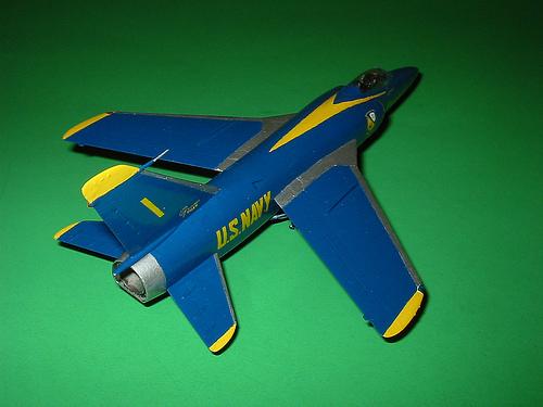 Hasegawa 1/72 Grumman F-11F-1 Tiger, long nose, Blue Angel #1
