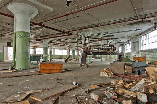 Large sewing machine? Abandoned Barber-Colman factory in Rockford, Illinois