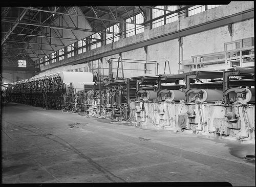 Mt. Holyoke, Massachusetts – Paper. American Writing Paper Co. Cylinder machines (making matchboard), 1936