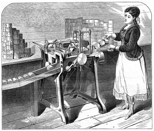 Tyrell's machine for labelling fruit and other cans, 1871