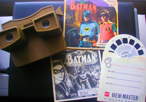 My Batman & Robin Viewmaster 3D Viewer and Reels. 1966.