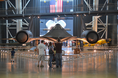 Steven F. Udvar-Hazy Center: SR-71 Blackbird and Space Shuttle Enterprise in the distance