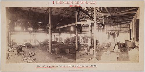 Fundicion de Sinaloa. Mazatlan. Herreria y Caldereria, Vista interior, 1898.